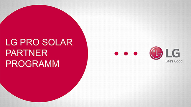 LG Solar Partnerprogramm